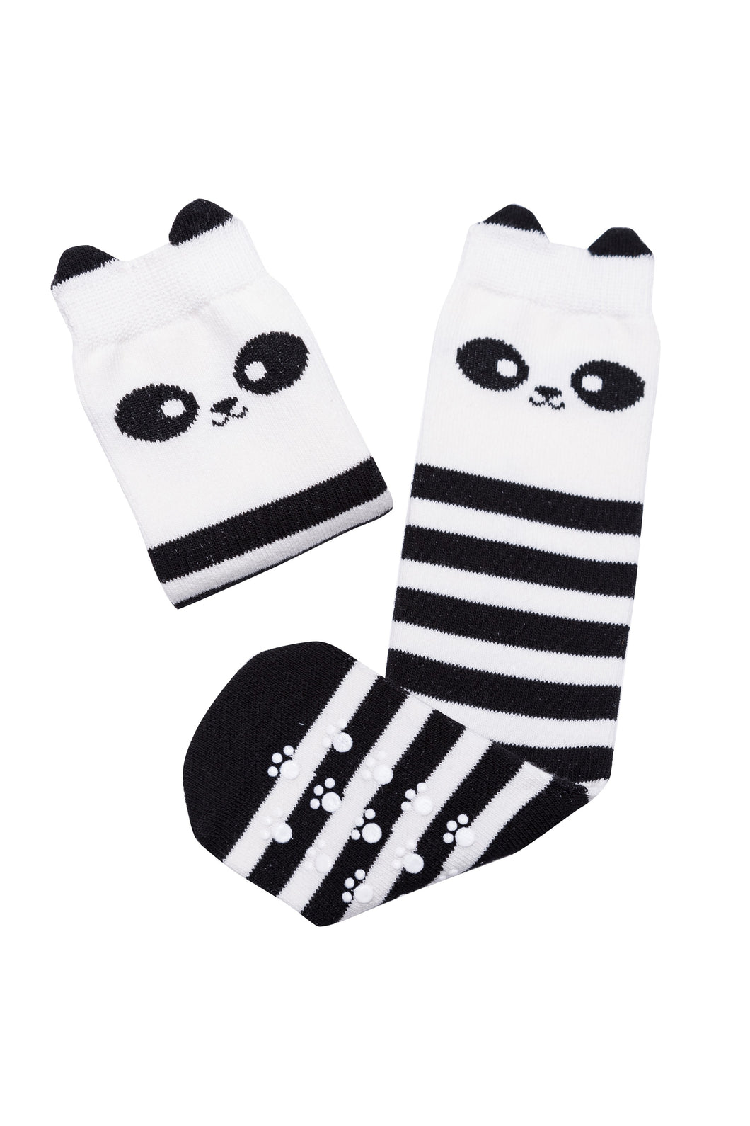 Mama's Feet Wanda the Brave Panda - Knee high socks (black/white)