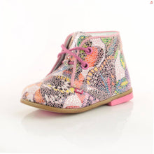 Emel Mosaic Leather Lace Up Shoes - pink trim