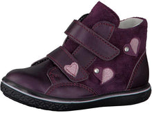 Ricosta ABBY ankle boots metallic dark cherry with hearts