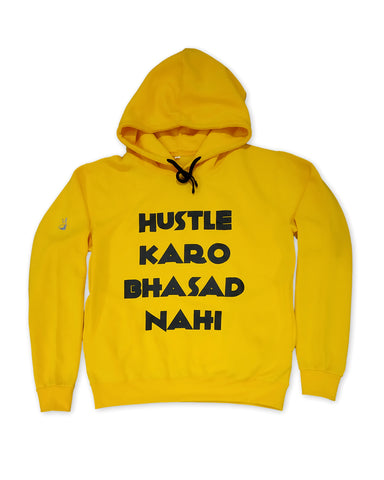The Hustle-Bhasad Hoodie - Yellow(Pre order dispatch date 25th november)