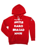 The Hustle-Bhasad Hoodie - Red & White