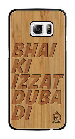Bamboo Wood Izzat Edition For samsung galaxy s7 edge