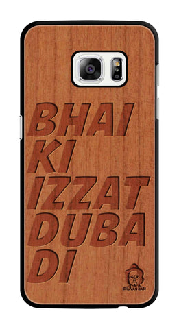 Cherry Wood Izzat Edition For samsung galaxy s7 edge