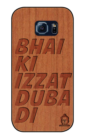 Cherry Wood Izzat Edition For samsung galaxy S6 Edge