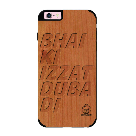 Cherry Wood Izzat Edition For I phone 6/6s plus