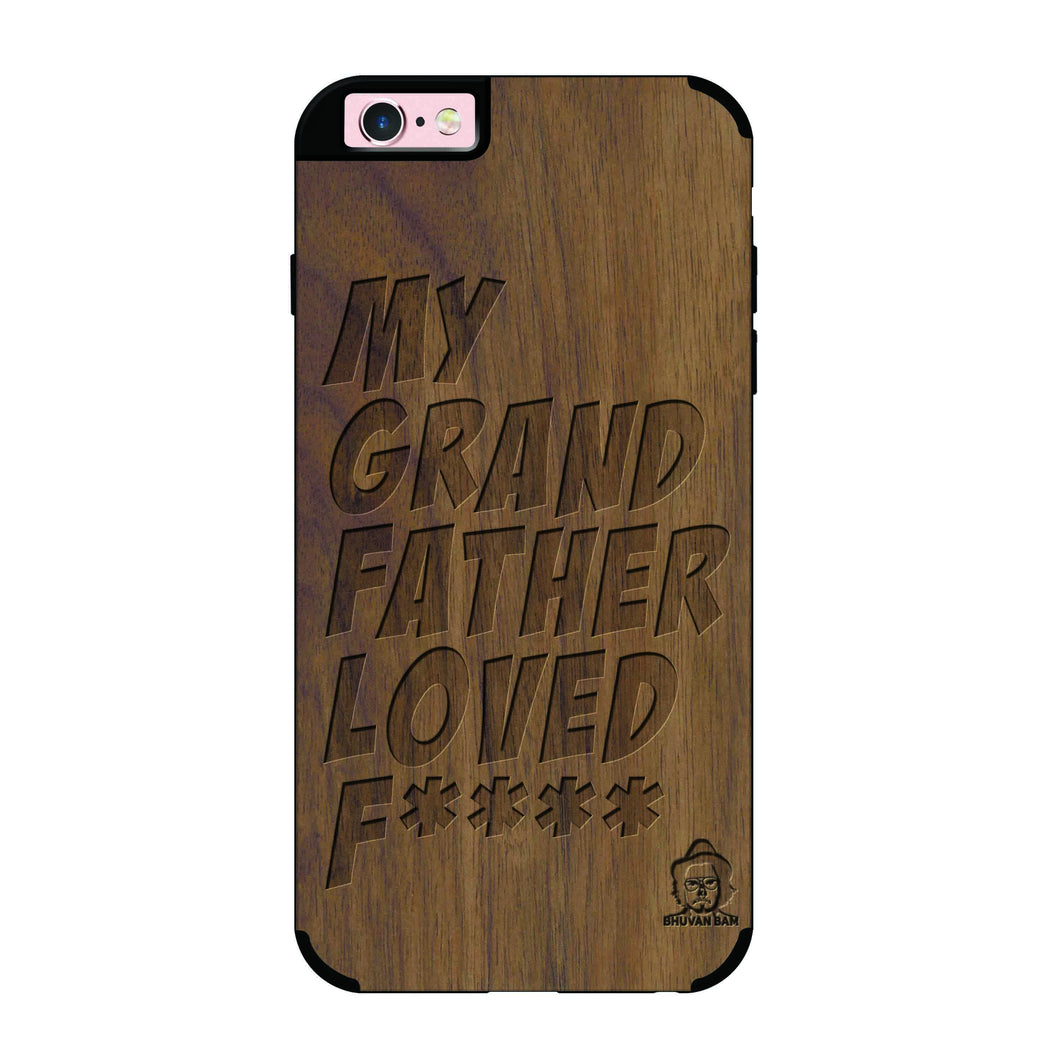 Wallnut Wood Sameer Fudd*** Edition For I phone 6/6s plus