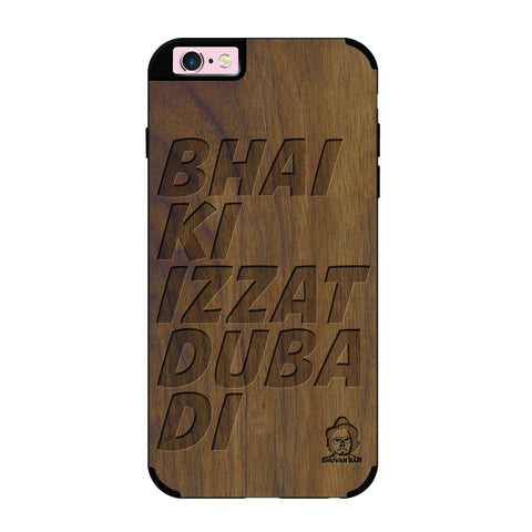 Wallnut Wood Izzat Edition For I phone 6/6s plus