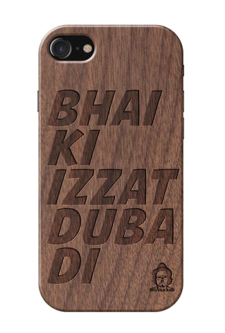 Wallnut Wood Izzat Edition for I Phone 7