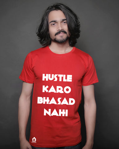 The Hustle Bhasad Tee - Red