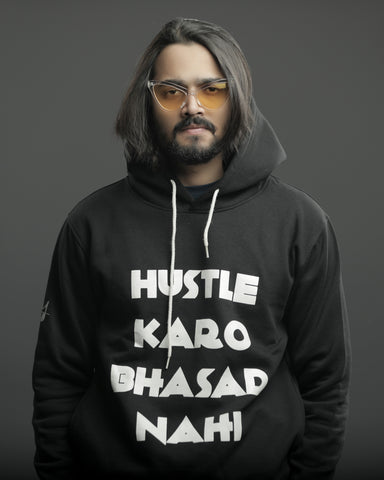 The Hustle-Bhasad Hoodie - Black