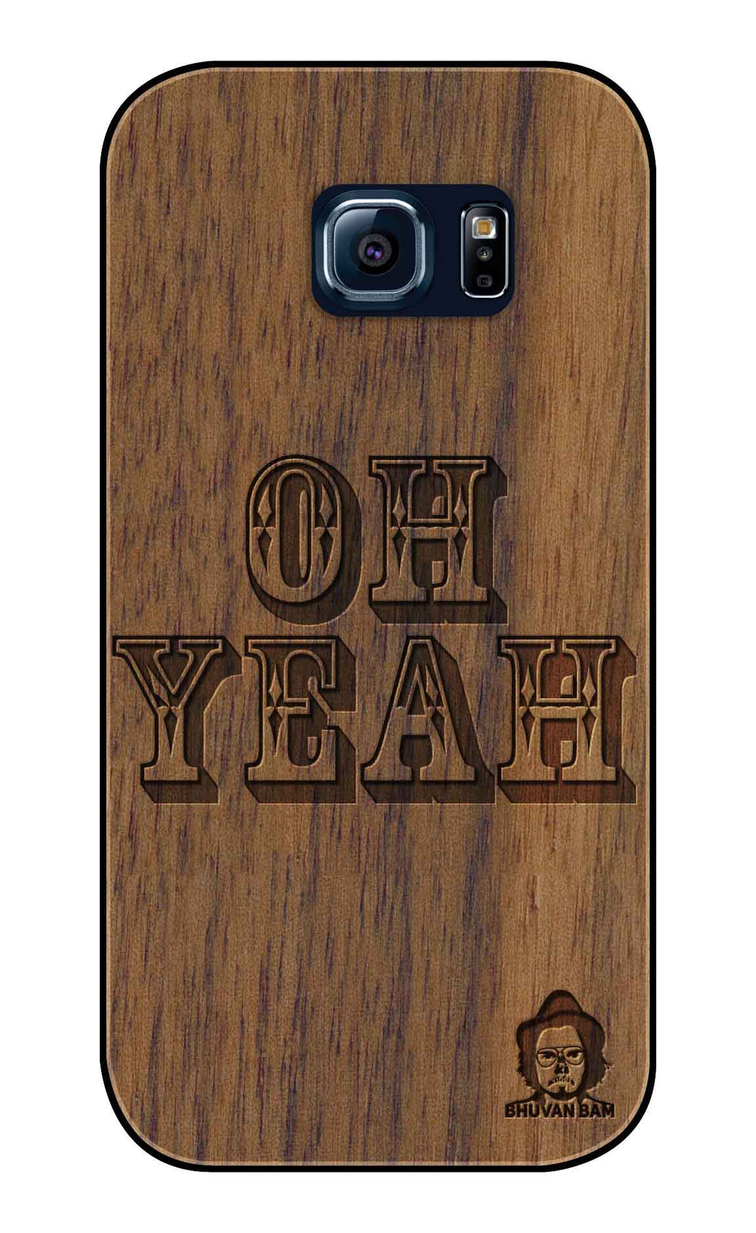 Wallnut Wood Sameer Fudd*** Edition For Samsung s6 Edge