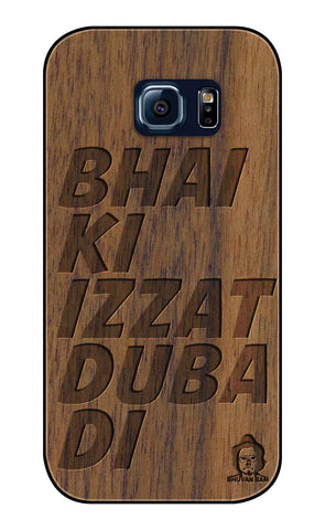 Wallnut Wood Izzat Edition For samsung galaxy S6 Edge