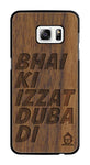 Wallnut Wood Izzat Edition For samsung galaxy s7 edge