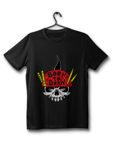Born To Draw Edition - Black Tee