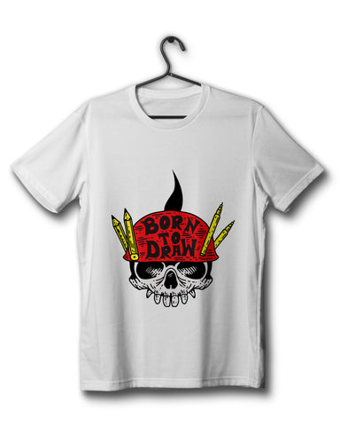 Born To Draw Edition - White Tee