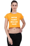 The Hustle-Bhasad Crop Top