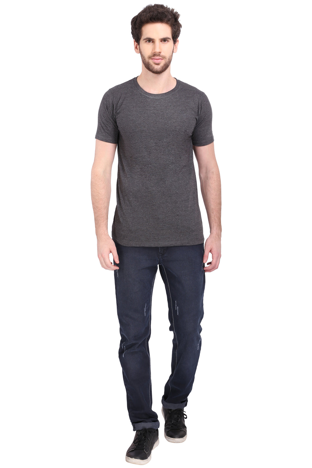 Round Neck Charcoal Grey - T Shirt