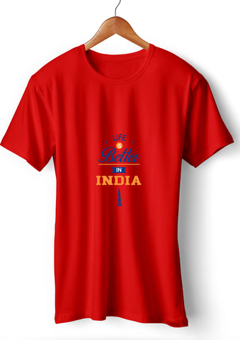 Life Is Better In India_Red