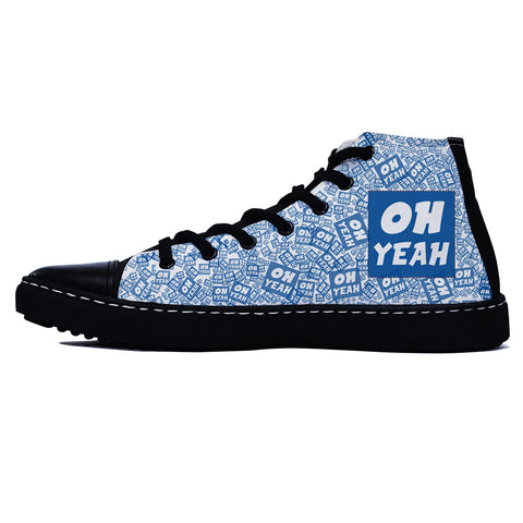 Oh Yeah Blue Edition Black Shoes