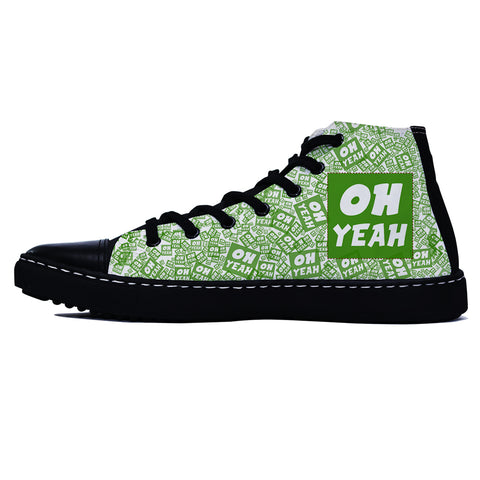 Oh Yeah Green Edition Black Shoes