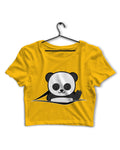 Peeking Panda - Crop Top