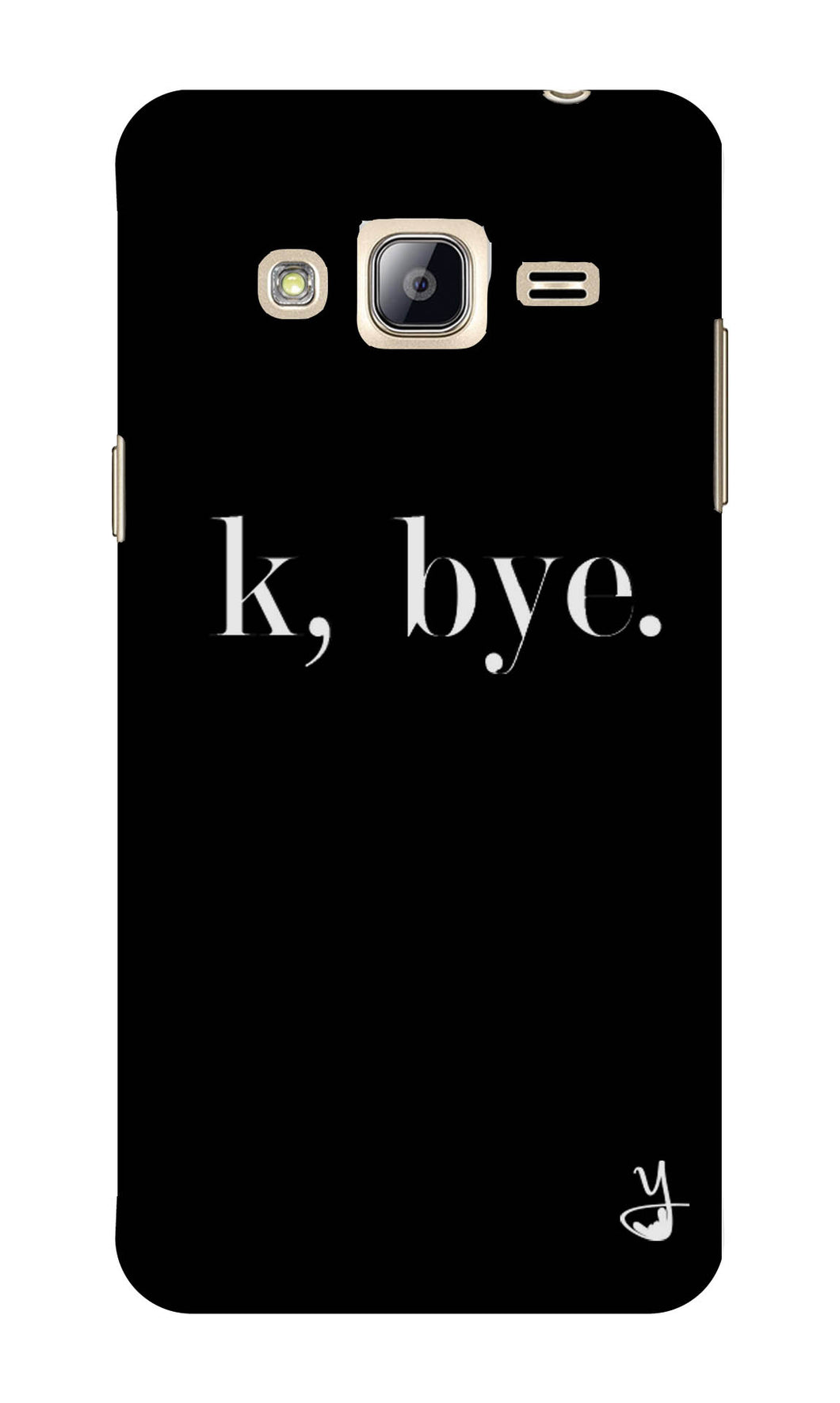 K BYE black for Samsung Galaxy J3 2016