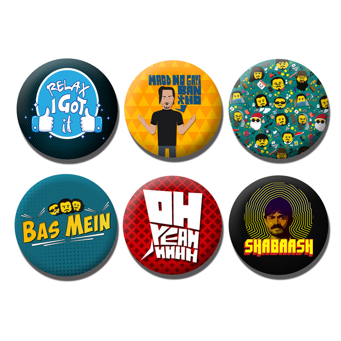 BB Badges - Pack of 6 (Free Shipping)