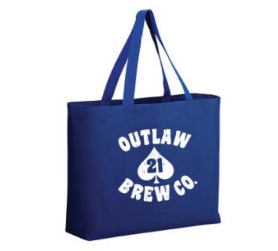 21 Blue Canvas Tote