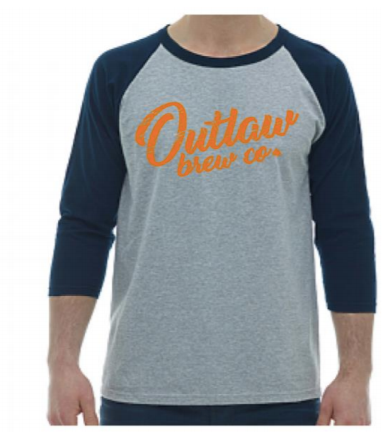 Outlaw Orange Raglan Unisex Long Sleeve