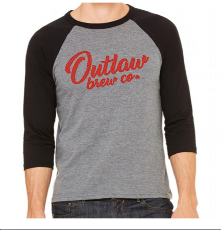 Outlaw Red Raglan Unisex Long Sleeve