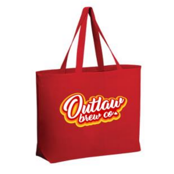 Retro Red Canvas Tote