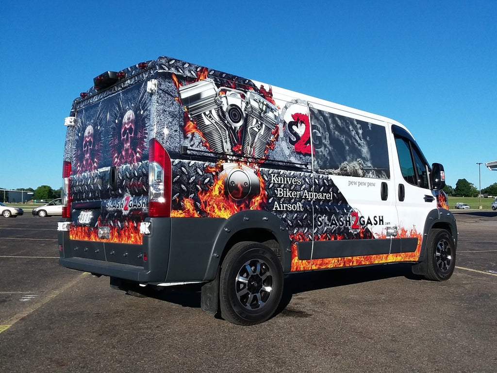 Slash2Gash S2G Van Wrap Vehicle Graphics '17 Ram Promaster by VMS Body Art