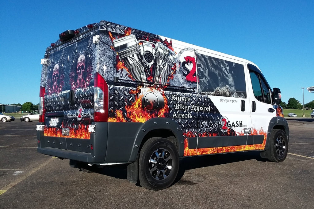 2017 ProMaster Van Wrap Vehicle Graphics Slash2Gash S2G by VMS Body Art
