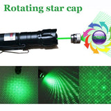 Green Laser Pointer Pen W/Clip High Power Military Grade 10 Miles + Star Cap + Battery + Charger 532nm
