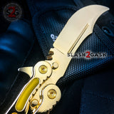 Golden CSGO Butterfly Knife TRAINER Dull Spring Latch PRACTICE Balisong