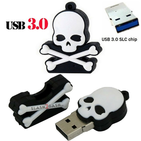 Cute Skull & Crossbones USB Flash Drive 3.0 Rubber Memory Stick 16/32gb 10x FASTER!