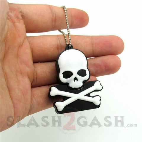 Skull & Crossbones USB Flash Drive 2.0 Rubber Memory Stick 16gb / 32gb
