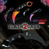 CSGO Wolf Karambit Full TANG Tactical Claw Neck Knife w/ Sheath ELITE ver