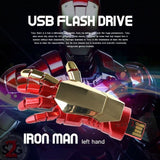 Iron Man USB Flash Drive 2.0 Moveable Hand w/ LED Light 16gb Memory Stick Pendrive
