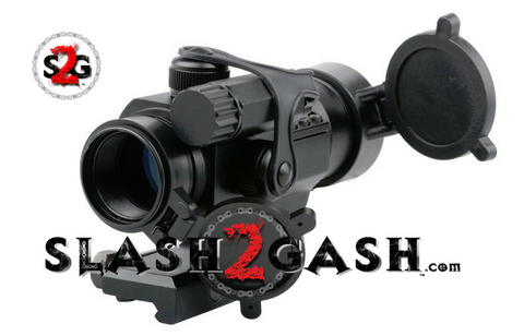Matrix 1x30mm Military Type Tactical Red & Green Dot Sight w/ Low Profile QD Cantilever Mount