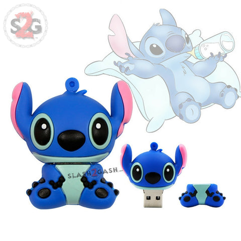 Cute Cartoon Stitch USB Flash Drive 2.0 Rubber Memory Stick 16gb