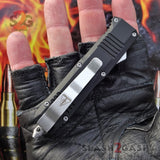 "Delta Force Small 7"" OTF Bullet HK Automatic Knife - REAL Layered Damascus Switchblade"
