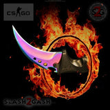 CSGO Green Emerald ELITE CIMA Karambit FULL TANG Tactical Claw Neck Knife
