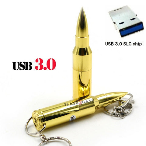 Bullet USB Flash Drive 3.0 Metal Memory Stick Pendrive 10x FASTER!