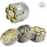 Revolver Bullet Herb Grinder Tobacco Mill - 3 Parts 2 Sizes 40mm 50mm