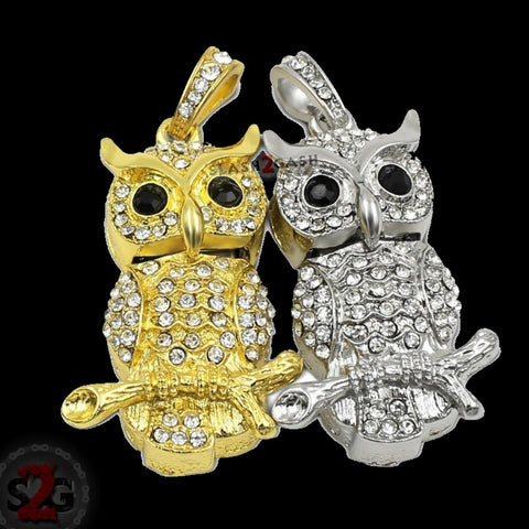 Cute Crystal Owl Necklace on Branch USB Flash Drive 2.0 Pendant Charm 16 GB U Disk Memory Stick