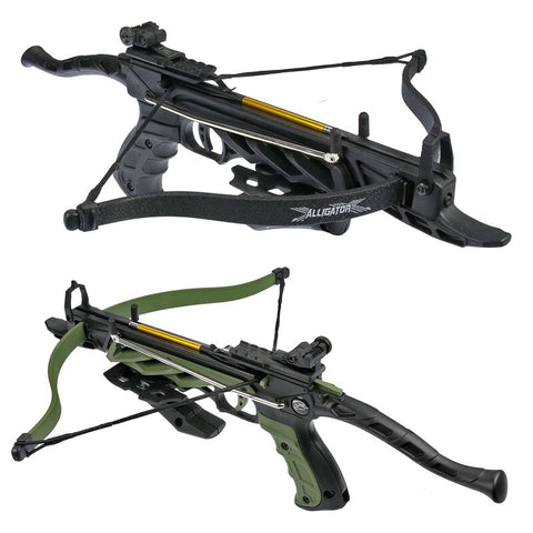 80 lb Pistol Crossbow ALLIGATOR w/ GRIP Bolts Archery Gun - Self Cocking