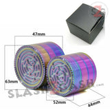 Rainbow Stainless Steel Magnetic Spice Herb Grinder w/ Maze 4 pc Game