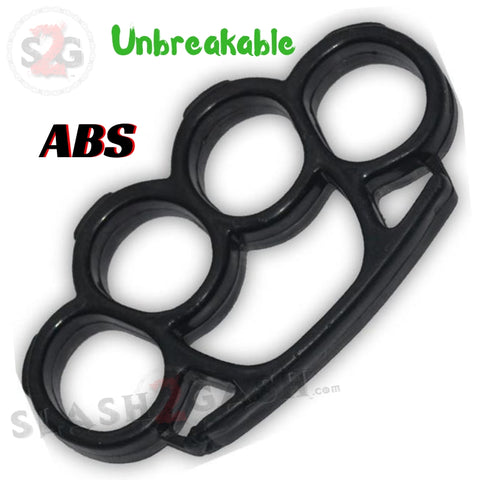 ABS Plastic Knuckles Unbreakable Paperweight - Black Lexan Buckle