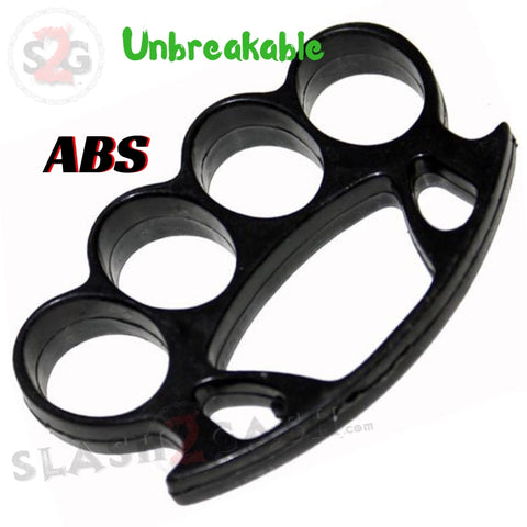 ABS Plastic Brass Knuckles Large Unbreakable Lexan Paperweight HERCULES Fat Boy